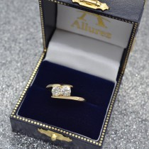 Diamond Solitaire Tension Two Stone Ring 18k Yellow Gold (1.00ct)