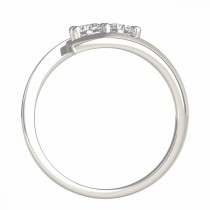 Diamond Solitaire Tension Two Stone Ring 18k White Gold (0.12ct)