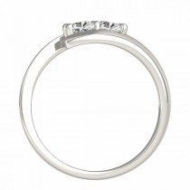 Diamond Solitaire Tension Two Stone Ring 14k White Gold (2.00ct)