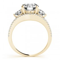 Diamond Split Shank Three Stone Engagement Ring 18k Yellow Gold (2.72ct)