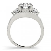 Diamond Split Shank Three Stone Engagement Ring Platinum (2.72ct)