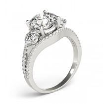 Diamond Split Shank Three Stone Engagement Ring Platinum (2.72ct)