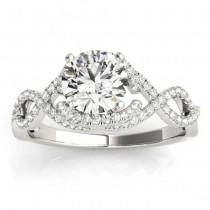 Diamond Infinity Engagement Ring Setting 18k White Gold (0.22ct)