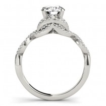 Diamond Twisted Infinity Engagement Ring 14k White Gold (1.22ct)