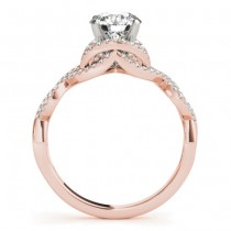 Diamond Twisted Infinity Engagement Ring 18k Rose Gold (1.22ct)