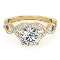 Diamond Twisted Infinity Engagement Ring 18k Yellow Gold (1.22ct)