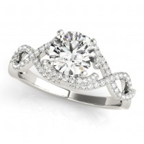 Diamond Twisted Infinity Engagement Ring Palladium (1.22ct)