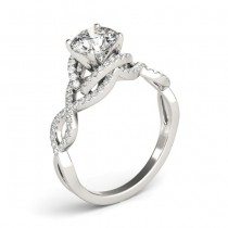 Diamond Twisted Infinity Engagement Ring Platinum (1.22ct)