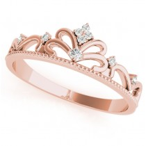 Diamond Accented Tiara Ring in 14k Rose Gold (0.07ct)