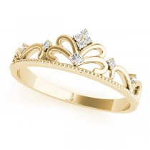 Diamond Accented Tiara Ring in 14k Yellow Gold (0.07ct)