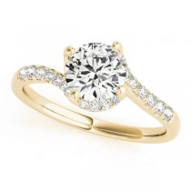 Diamond Twisted Engagement Ring 18k Yellow Gold (1.00ct)