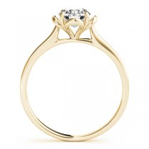 Diamond Solitaire Clover Engagement Ring 18k Yellow Gold (0.33ct)