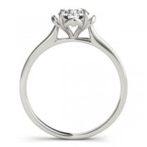 Diamond Solitaire Clover Engagement Ring Platinum (0.33ct)