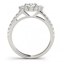 Diamond Halo East West Engagement Ring Platinum (1.32ct)