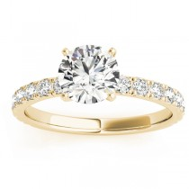 Diamond Single Row Engagement Ring Setting 18k Yellow Gold (0.32ct)