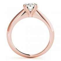 Diamond Solitaire 8 Prong Engagement Ring 14k Rose Gold (1.00ct)