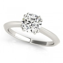 Diamond Solitaire 8 Prong Engagement Ring 18k White Gold (1.00ct)