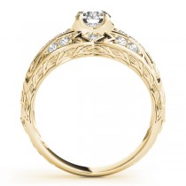 Diamond Art Deco Engagement Ring 14k Yellow Gold (0.73ct)