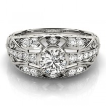 Diamond Art Deco Engagement Ring Platinum (0.73ct)