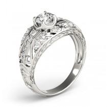 Diamond Art Deco Engagement Ring Platinum (0.73ct)