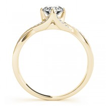Diamond Bypass Twisted Engagement Ring 14k Yellow Gold (0.68ct)