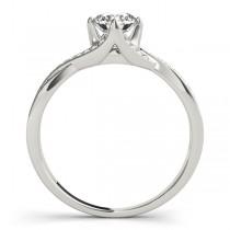 Diamond Bypass Twisted Engagement Ring Palladium (0.68ct)