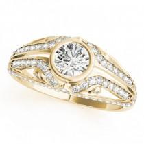 Diamond Bezel Art Nouveau Fashion Band Ring 14k Yellow Gold (1.52ct)