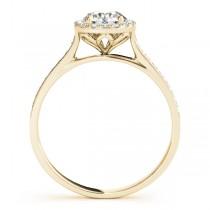 Diamond Halo Engagement Ring 14k Yellow Gold (1.29ct)