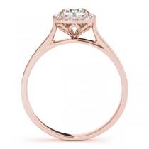 Diamond Halo Engagement Ring 14k Rose Gold (0.29ct)