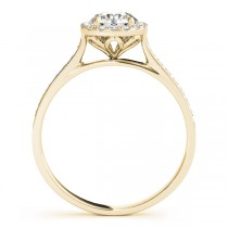 Diamond Halo Engagement Ring 14k Yellow Gold (0.29ct)