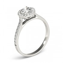 Diamond Halo Engagement Ring 18k White Gold (0.29ct)