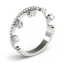 Royal Crown Diamond Ring in 14k White Gold (0.17ct)
