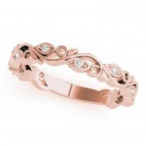 Diamond Leaf Fashion Wedding Band 14k Rose Gold (0.05ct)
