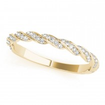 Diamond Twist Fashion Wedding Band 14k Yellow Gold (0.23ct)