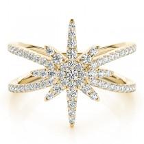 Diamond North Star Fashion Ring 14k Yellow Gold (0.47ct)