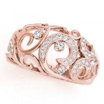 Diamond Spiral Pattern Fashion Ring 14k Rose Gold (0.25ct)