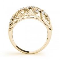 Diamond Spiral Pattern Fashion Ring 14k Yellow Gold (0.25ct)