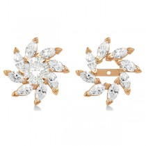 Marquise Earring Jackets in 14k Rose Gold (1.60ct)