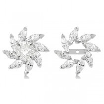Marquise Earring Jackets in 14k White Gold (1.60ct)
