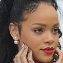 Freshwater White Round Pearl Double Pearl Studs 14k White Gold (8-11mm)