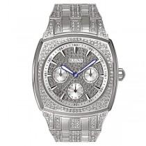 Men's Bulova Crystal Accented Quartz Watch, Stainless Steel Bracelet