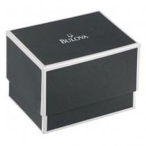 Bulova Men's Black and Rose Gold-Tone Chronograph Rubber Strap Watch