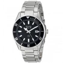 Bulova Marine Star Analog Watch w/ Black Dial Stainless Steel Bracelet