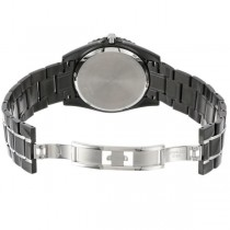 Men's Bulova Diamond & Mother of Pearl Dial Black Stainless Steel Watch