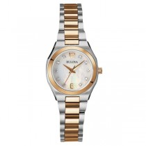 Bulova Women's Diamond Watch Mother of Pearl Stainless Steel Bracelet
