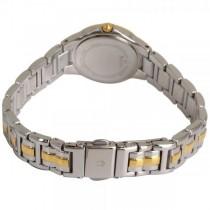 Bulova Women's Silver Dial Two Tone Diamond Accented Quartz Watch