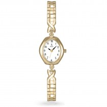 Allurez Women's Expansion Band Gold-tone Stainless Steel Watch