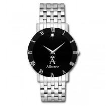 Allurez Diamond Solitaire Dial Fashion Watch for Men Swiss Made