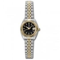 Allurez Women's Two-Tone Stainless Steel Sports Wrist Watch Swiss Made