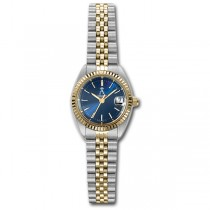 Allurez Women's Two-Tone Stainless Steel Sports Wrist Watch Swiss Made